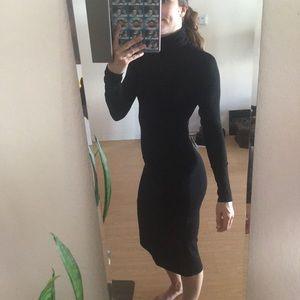 ASOS Dresses - Asos black turtleneck midi shift dress